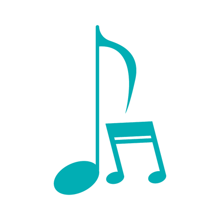 music notes icon image vector illustration design Illustration