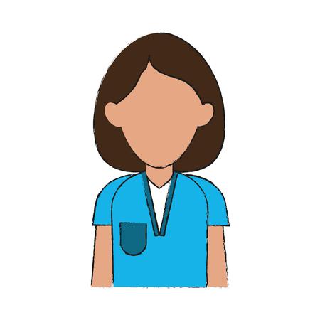 lifeline: Nurse woman cartoon icon vector illustration graphic design Illustration