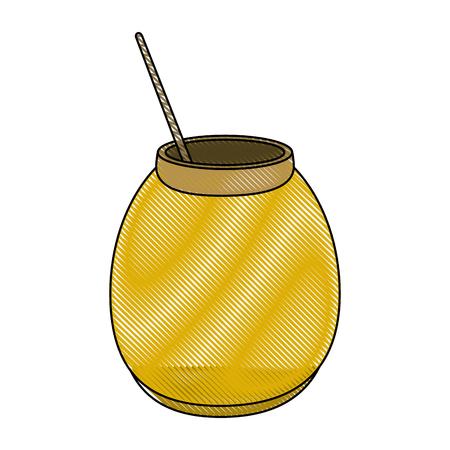 Delicious sweet honey icon.