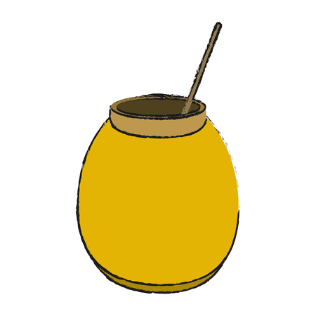 Delicious sweet honey icon vector illustration graphic design