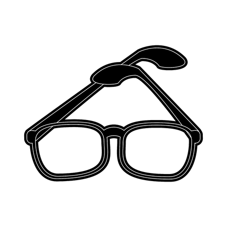 Glasses modern style icon vector illustration graphic design