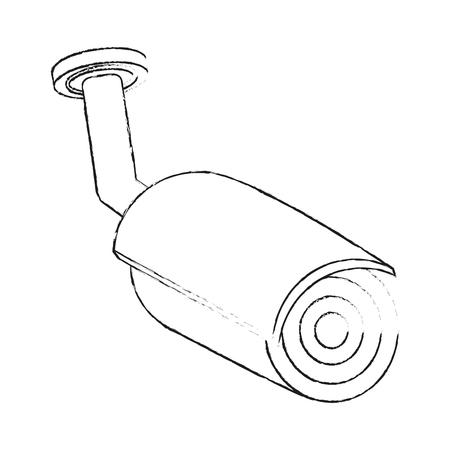 Surveillance camera technology icon vector illustration graphic design