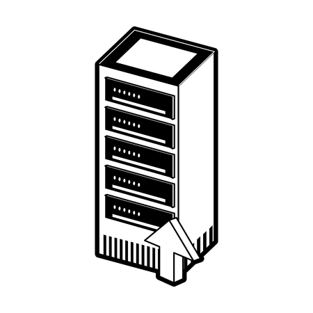 Storage servers technology icon vector illustration graphic design