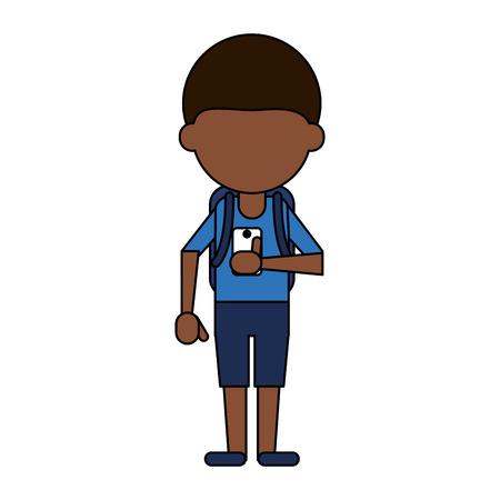 Man avatar using cellphone icon image vector illustration design. Illustration