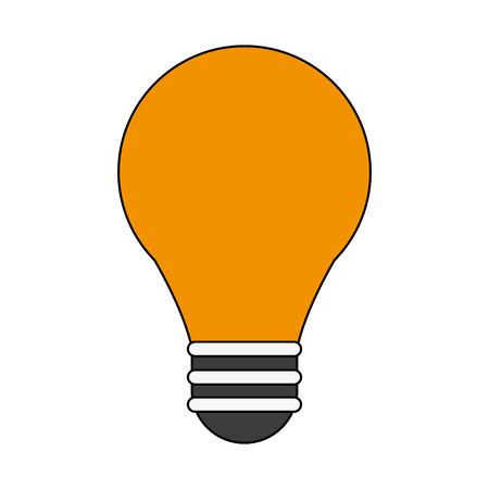 Regular light bulb icon image vector illustration design.