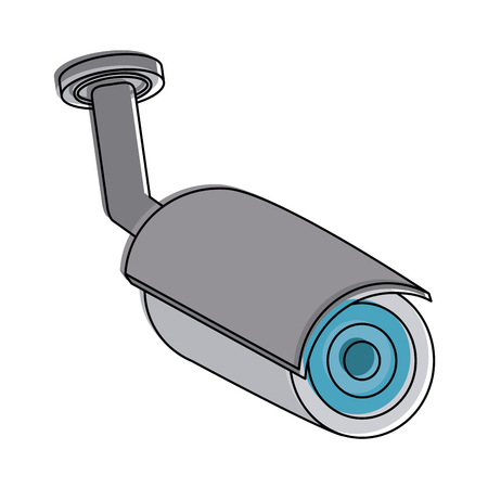 camera security or surveillance icon image vector illustration design