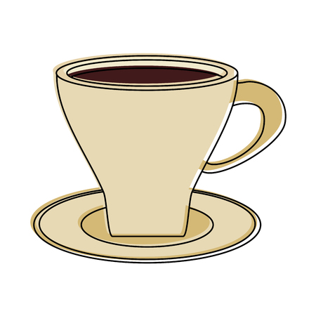 coffee beverage icon image vector illustration design Illustration