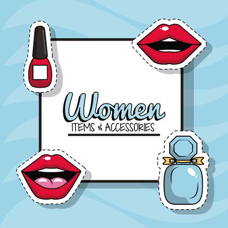 Women fashion accesories icon vector illustration graphic design