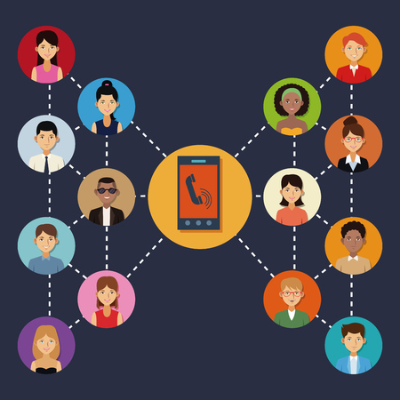 rounds: Social network icons icon vector illustration graphic design