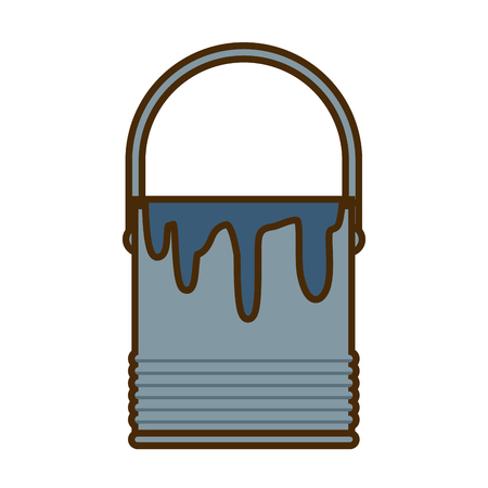 Paint bucket isolated icon vector illustration graphic design 向量圖像