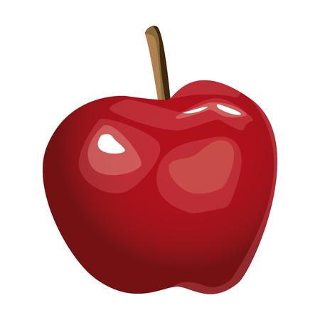 Apple delicious fruit icon vector illustration graphic design.