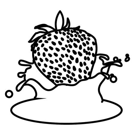 Strawberry and cream icon vector illustration graphic design.