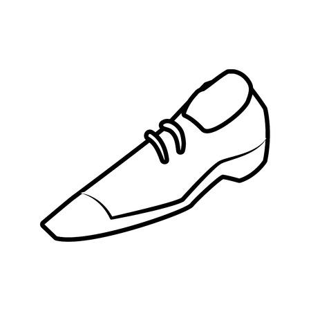 Male shoe footwear icon illustration. Çizim