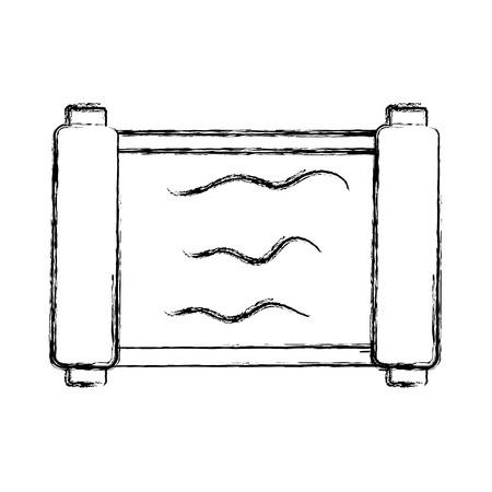 Papyrus old paper icon vector illustration graphic design Ilustração