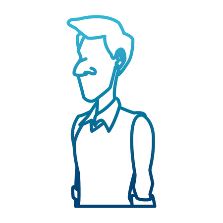 Adult man cartoon icon.