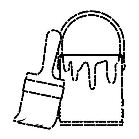 Paint bucket isolated icon vector illustration graphic design Illustration