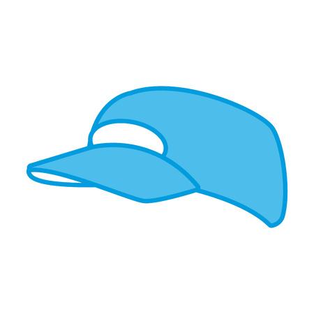 Hat cap isolated icon. Illustration