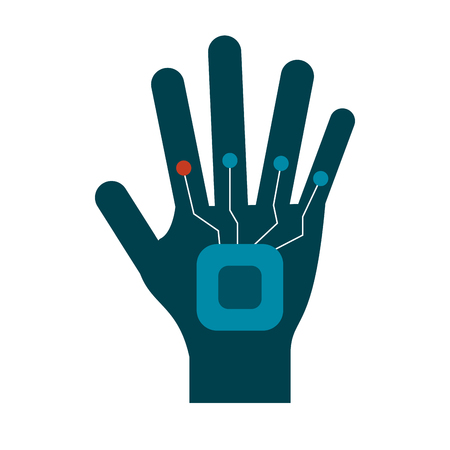 Hand controller technology icon vector illustration graphic design