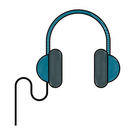 input device: Music headphones isolated icon vector illustration graphic design