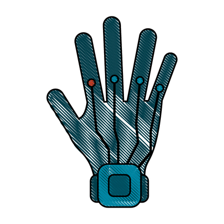 Hand controller technology icon.