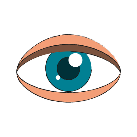 Human eye isolated icon. Illustration