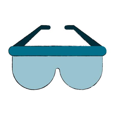 Sunglasses fashion isolated icon. Illustration