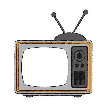 Old tv technology icon. Illustration