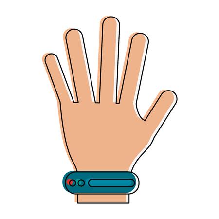virtual reality simulator: Hand controller technology icon.
