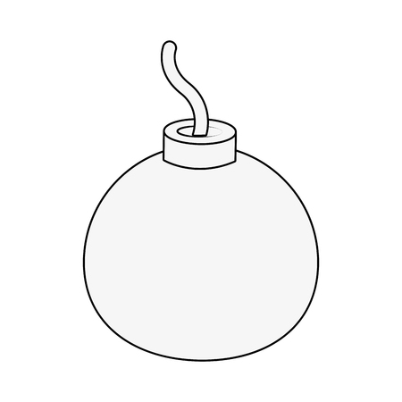 Round bomb icon. Illustration