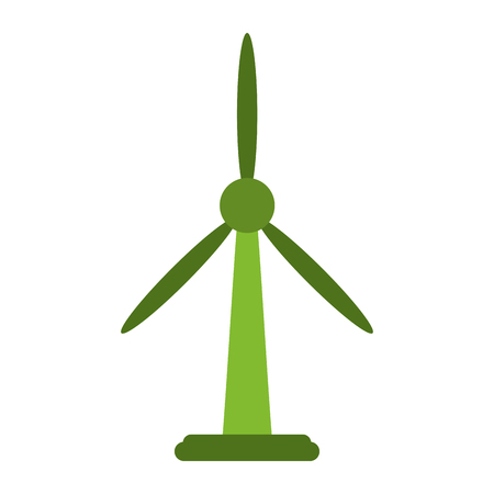 Wind turbine energy icon vector illustration graphic design Illustration
