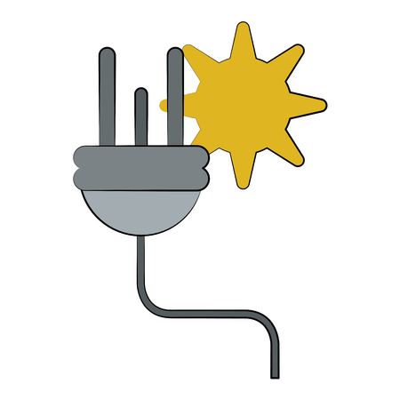 Electric wire energy icon vector illustration graphic design Illustration
