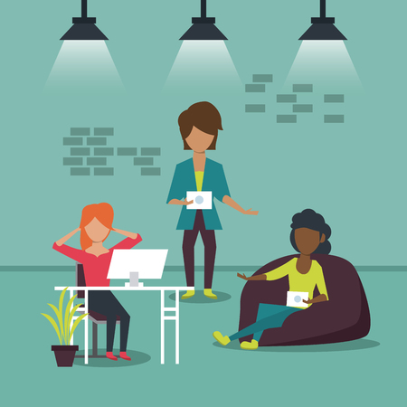 Business co-working office icon. Illustration