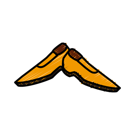 Male shoes footwear icon vector illustration graphic design.