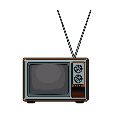 Old tv technology pop art icon vector illustration graphic 矢量图像