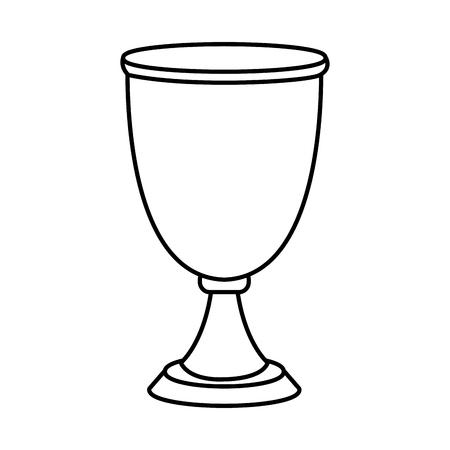 Chalice cup symbol icon vector illustration, graphic design. Illustration