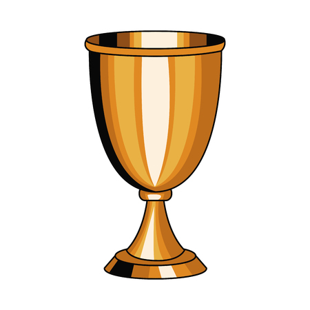 Chalice cup symbol pop art icon vector illustration, graphic design.