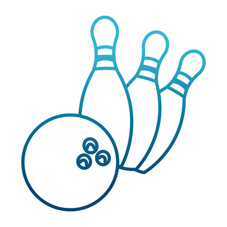 Bowling ball and pins icon vector illustration graphic design