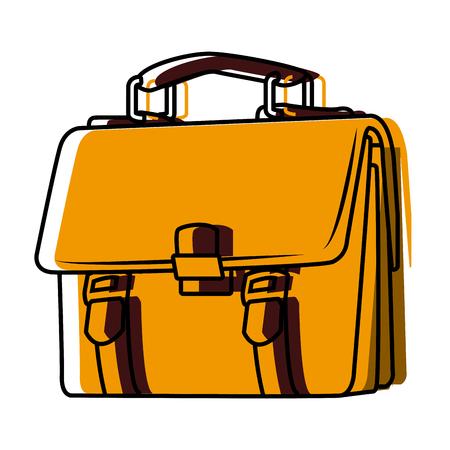 Business briefcase symbol icon vector illustration, graphic design.
