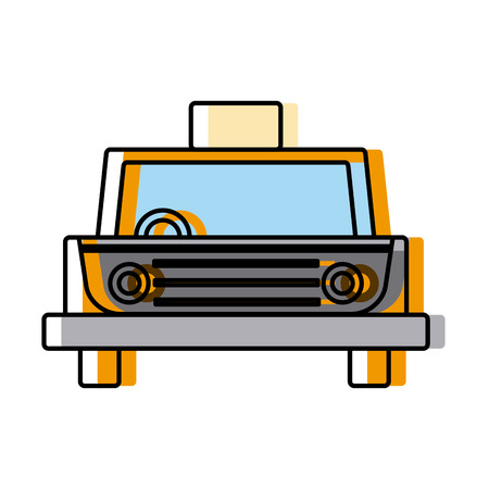 Taxi cab vehicle icon vector illustration, graphic design.