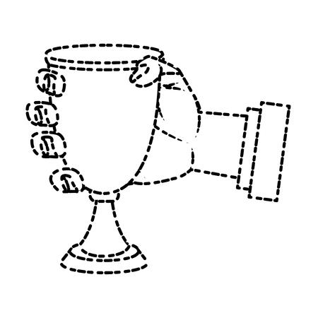 Chalice cup symbol icon Illustration