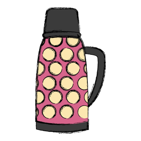 Thermo drink bottle icon vector illustration graphic design