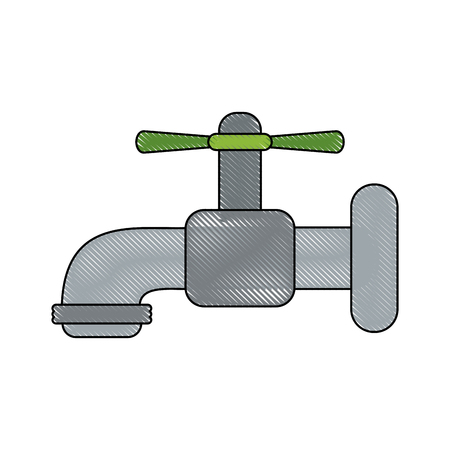 Water tap isolated icon vector illustration graphc design Illustration
