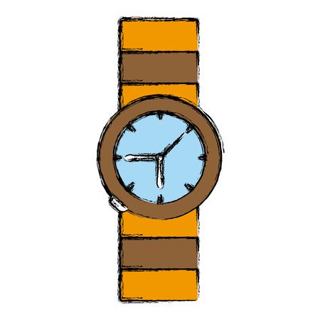 Vintage luxury wristwatch icon vector illustration graphic design Illustration