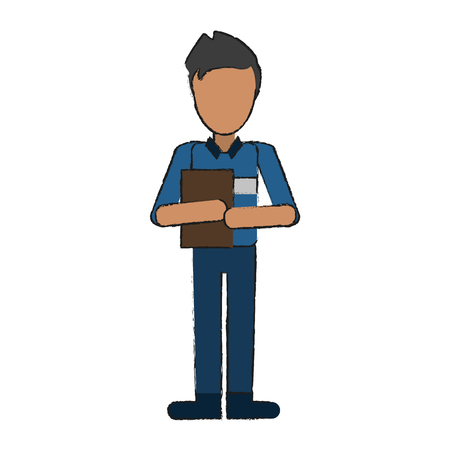 Courier avatar full body icon vector illustration graphc design