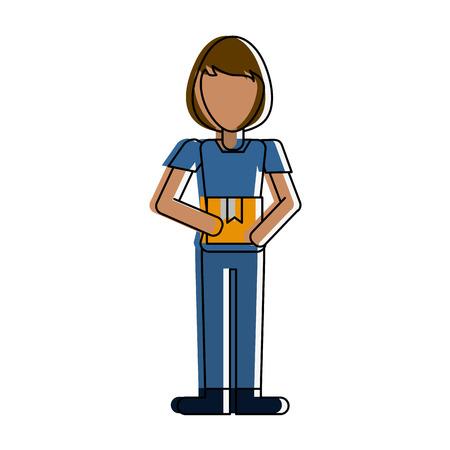 Woman avatar full body icon vector illustration, graphic design.