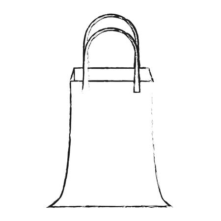 Shopping bag sybol icon vector illustration graphic design Illustration