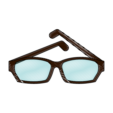 Fashion lens glasses icon illustration graphic design.