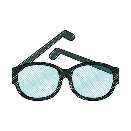 eyewear fashion: Fashion lens glasses icon illustration graphic design.