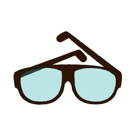 eyewear fashion: Fashion lens glasses icon vector illustration Illustration