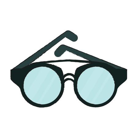 Fashion lens glasses icon vector illustration Illustration
